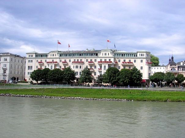 El tradicional Hotel Sacher, en la ciudad austríaca de Salzburgo.