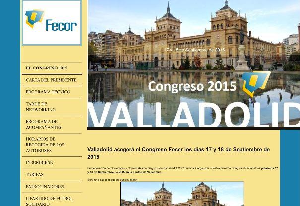 Los días 17 y 18 de septiembre se celebrará el Congreso de Fecor 2015 en la ciudad de Valladolid.
