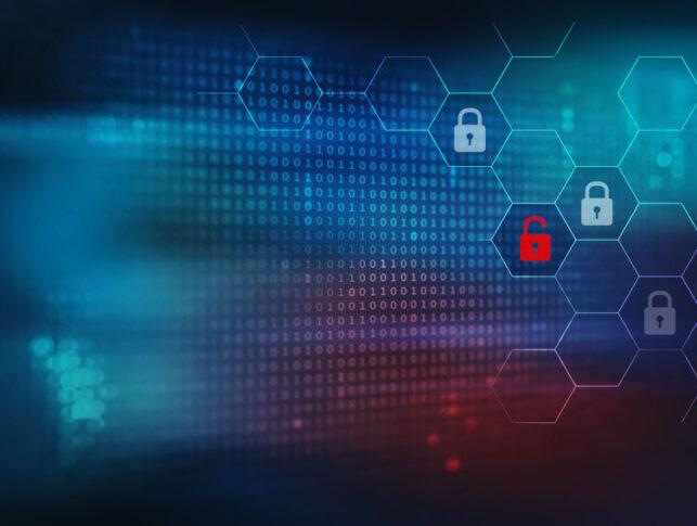 Fondo de seguridad y protección de datos de Internet con candados, concepto de ciberseguridad