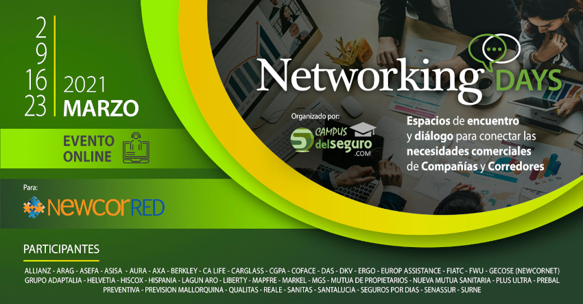 cartel de los networking days de newcorred
