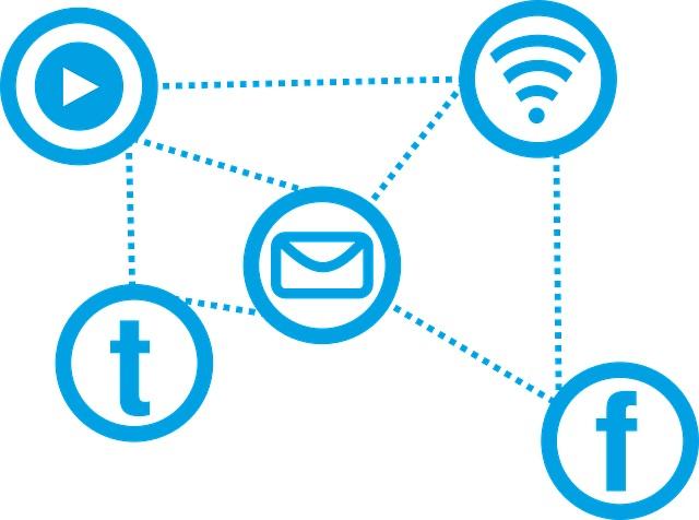 Iconos de redes sociales.   Pixabay